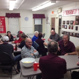 Social event at Benson Hall Euchre card party.