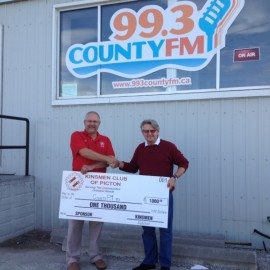 $1000 to 99.3 County FM