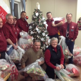 Kinsmen donate $3000, 30 Christmas gifts to the Christmas Angel Tree Program supporting county families in need.